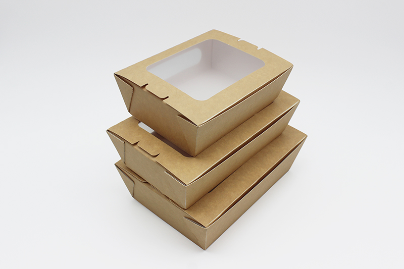 salad paper box with window